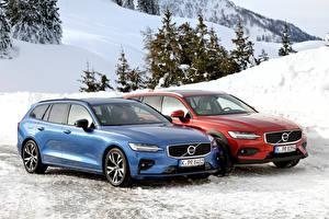 Images Volvo Two Metallic 2018-19 V60 automobile