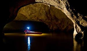 Hintergrundbilder Wasser Mann Höhle Lichtstrahl