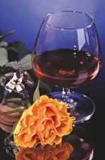 Hintergrundbilder Wein Rosen Weinglas Lebensmittel