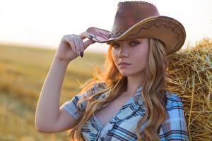 Picture Hat Hands Cowboy Beautiful Alexey Lozgachev Girls