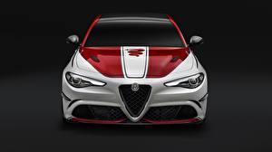 Wallpaper Alfa Romeo Front Quadrifoglio Giulia 2019 automobile