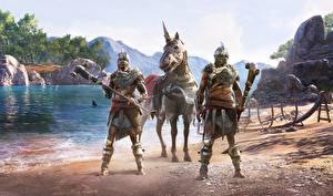 Hintergrundbilder Assassin's Creed Odyssey Krieger DLC Spiele