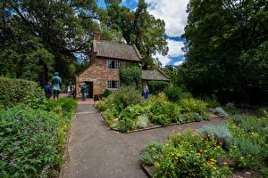 Picture Australia Melbourne Building Parks Shrubs Captain Cook Garden