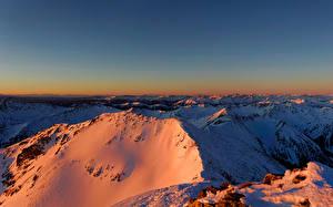 Pictures Austria Mountains Winter Alps Snow Styria