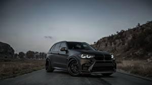 Wallpaper BMW Black X5M Z Performance auto