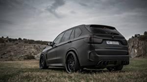Wallpapers BMW Black Back view X5M Z Performance Cars