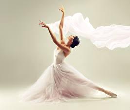 Wallpapers Ballet Brunette girl Gown Hands Girls