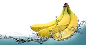 Wallpapers Bananas Water Spray
