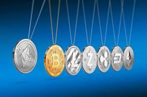 Bilder Bitcoin Münze ripple, xrp, litecoin, ltc, ethereum, DASH, ethereum classic