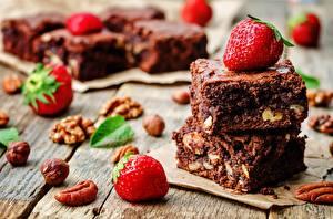 Hintergrundbilder Törtchen Schokolade Erdbeeren Lebensmittel