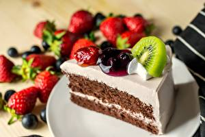 Pictures Cakes Fruit Piece Food