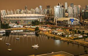 Bilder Kanada Haus Seebrücke Vancouver Bucht Städte