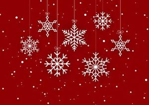 Image Christmas Red background Snowflakes