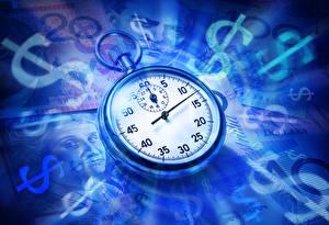 Bilder Uhr Dollars Taschenuhr