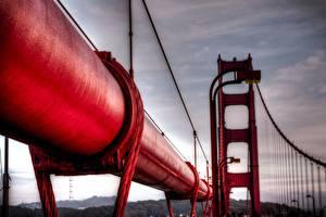 Fotos Hautnah Makrofotografie Brücken Rot Städte