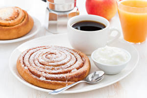 Photo Coffee Pastry Powdered sugar Cup Spoon Food