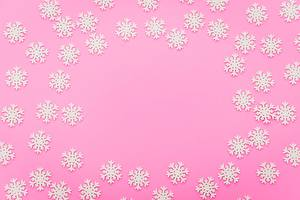 Photo Colored background Snowflakes Template greeting card