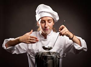 Bilder Küchenchef Uniform Hand Mädchens