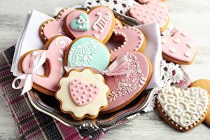 Sfondi desktop Biscotti Festa di san Valentino Cibo