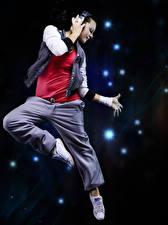 Images Dance Jump Headphones Hands Girls