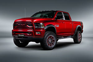 Image Dodge Gray background Pickup Red 2018-19 Ram 2500 by Apache Customz Trucks Cars