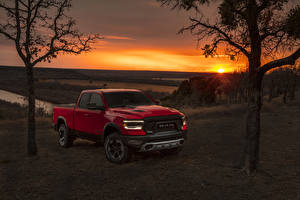 Wallpapers Dodge Pickup Red 2019 Ram 1500 Rebel Quad Cab Cars