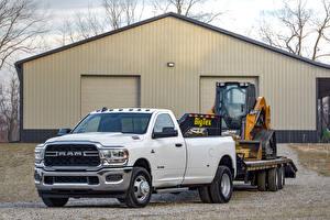 Bilder Dodge Pick-up Weiß Metallisch 2019 Ram 3500 Tradesman Regular Cab Chrome Appearance Package Dually Autos