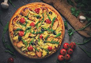 Bilder Fast food Pizza Tomate Pilze Lebensmittel
