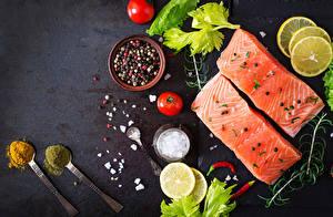 Hintergrundbilder Fische - Lebensmittel Gewürze Tomate Zitrone Löffel Lebensmittel
