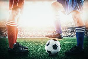 Image Footbal Legs Ball Sneakers