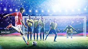 Bilder Fußball Mann Torhüter Uniform Ball Schlagen