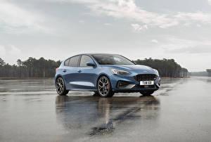 Hintergrundbilder Ford Hellblau 2019 Focus ST Worldwide Autos