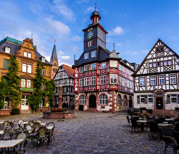 Picture Germany Houses Cafe Heppenheim