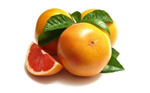 Image Grapefruit Closeup White background Food