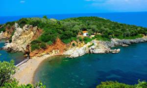 Fotos Griechenland Küste Bucht Agios Vasileios Evia Natur