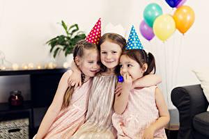 Images Holidays Birthday Little girls Three 3 Hugs child