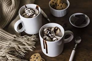 Fotos Speiseeis Schokolade Becher Lebensmittel