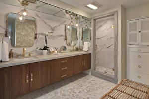 Fotos Innenarchitektur Design Badezimmer Lampe Spiegel