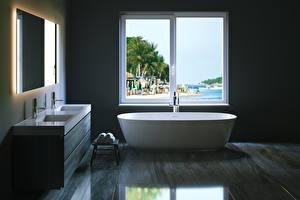 Fotos Innenarchitektur Design Badezimmer Fenster