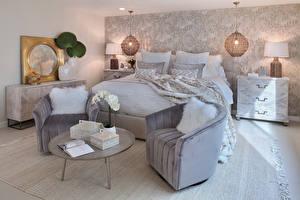 Bilder Innenarchitektur Design Schlafzimmer Bett Sessel Lampe