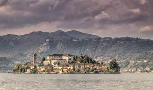 Fotos Italien Insel Haus See Isola San Giulio Städte