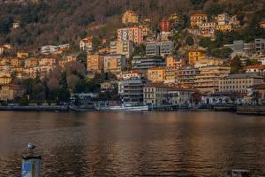 Fotos Italien See Haus Bootssteg Como Lombardy Städte