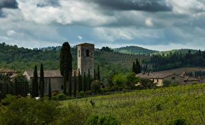 Hintergrundbilder Italien Toskana Gebäude Acker Hügel Chianti Städte