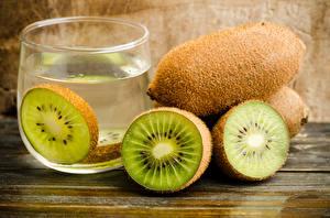 Fotos Kiwifrucht Getränke Trinkglas das Essen