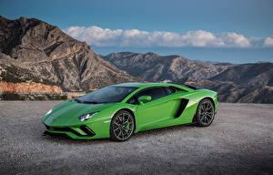 Fondos de Pantalla Lamborghini Verde Metálico 2017-19 Aventador S Worldwide
