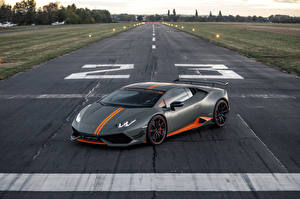 Wallpaper Lamborghini Grey 2018-19 Luethen Motorsport Huracan LP 610-4 Avio