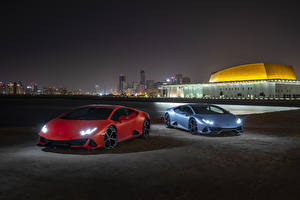 Wallpaper Lamborghini 2 Night time 2019 Huracan EVO