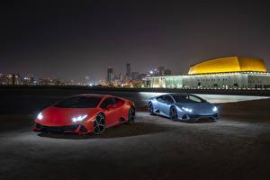 Fondos de Pantalla Lamborghini 2 Noche 2019 Huracan EVO