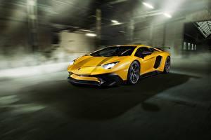 Pictures Lamborghini Yellow Aventador Novitec Torado LP 750-4 Cars