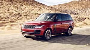 Papel de Parede Desktop Land Rover Vermelho Movimento 2018 Dynamic carro